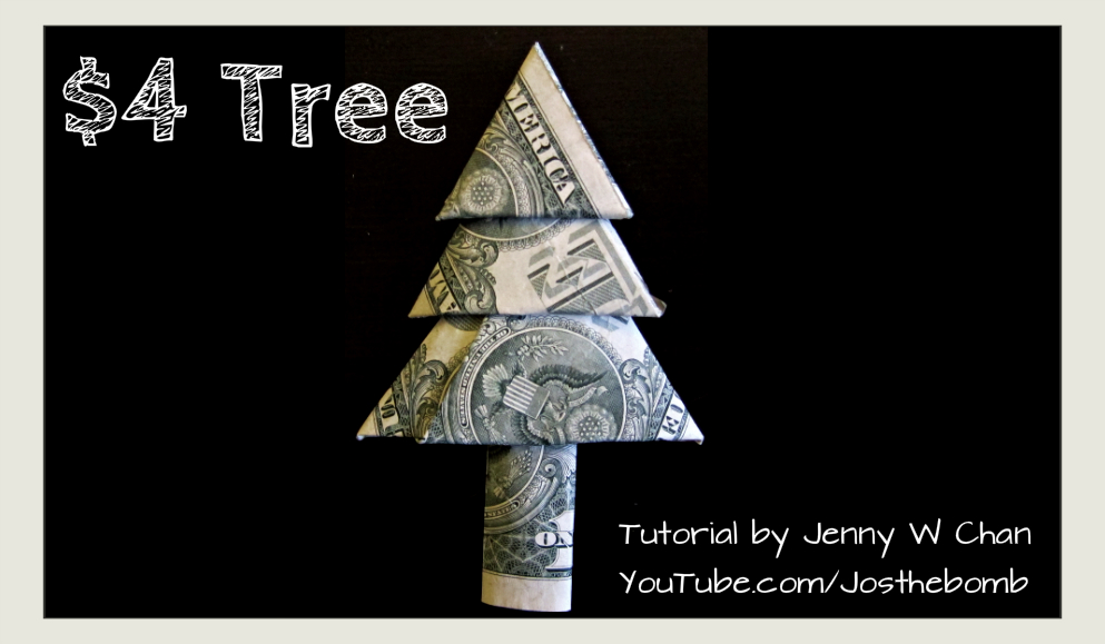 $4 Christmas Tree - Money Origami
