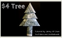 money origami 4 dollar tree