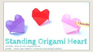 Origami Standing Heart