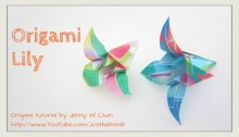 Origami Lily | Origami OrigamiTree.com