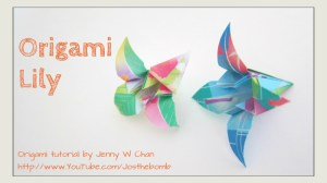 Origami Lily - Origami Flower Tutorial | Origami Instructions at OrigamiTree.com