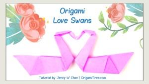 origami swan love swan birds | origami origamitree.com