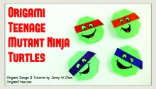 Origami Teenage Mutant Ninja Turtles TMNT OrigamiTree.com Origami Tutorial
