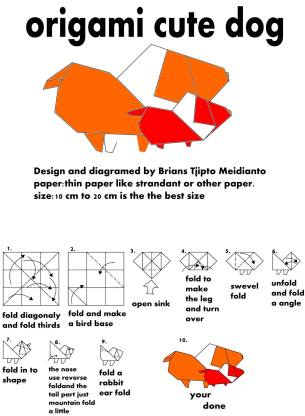 Origami Cute Dog Instructions OrigamiTree.com