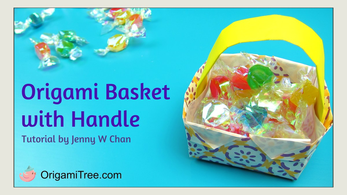 Origami Basket with Handle (2)