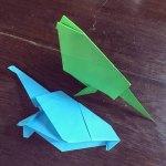 Origami Bird, nestingnomads (Instagram) | TUTORIAL: http://wp.me/p5AUsW-du