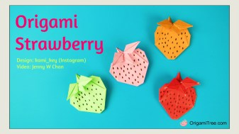 Origami Strawberry Kami_Key Origami OrigamiTree Thumbnail