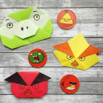 Angry Birds, Origamialalma (Instagram) | TUTORIAL: bit.ly/OrigamiAngryBirds