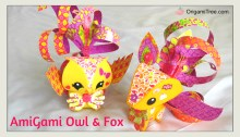 AmiGami Fox and Owl Origami OrigamiTree.com