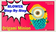 Slower Minion Tutorial Origami 3D Minion OrigamiTree.com