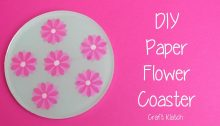 Paper Flower Coaster Craft Klatch OrigamiTree