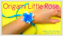 Origami Rose Little Rose Tutorial | Jenny W. Chan, OrigamiTree