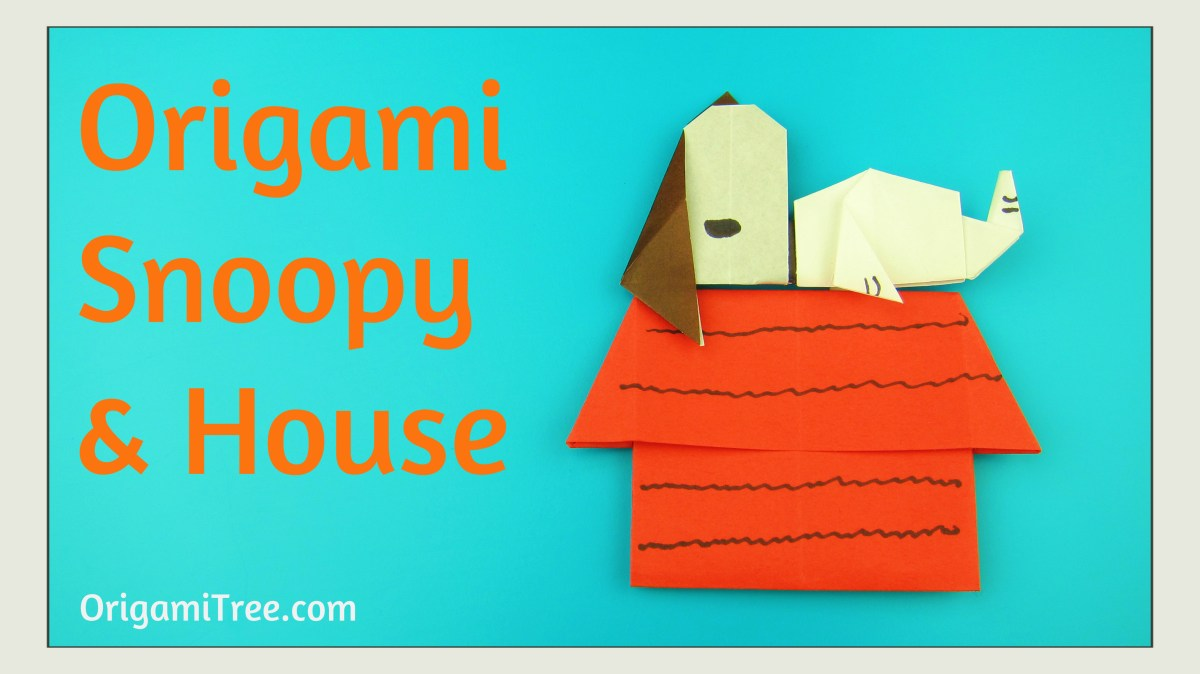 Origami Snoopy & House