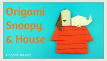 Origami Snoopy on House