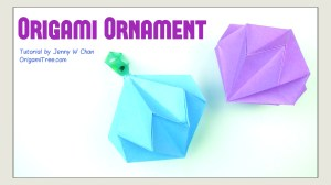 Origami Diamond Ornament