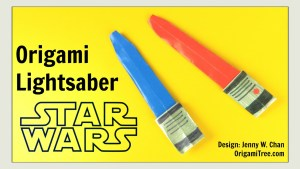 origami light saber tutorial star wars origami origamitree