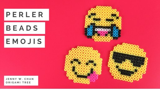 perler beads emojis origami tree jenny w chan