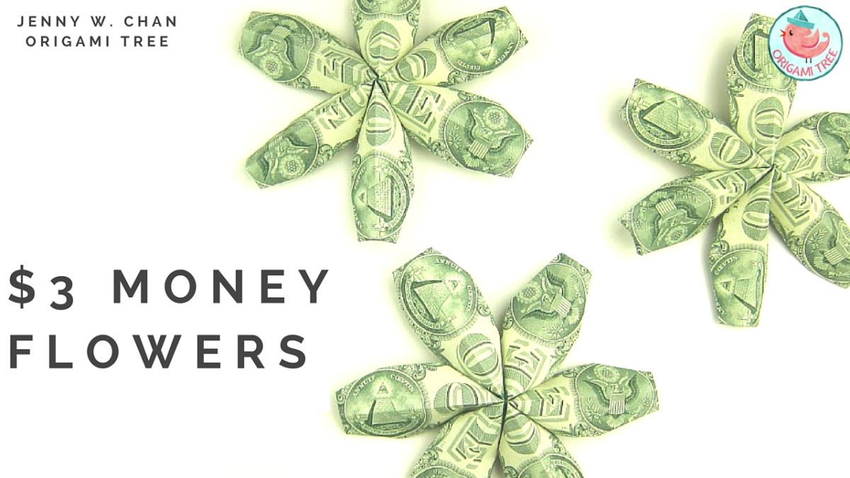 $3 Money Flowers (Dollar Origami)