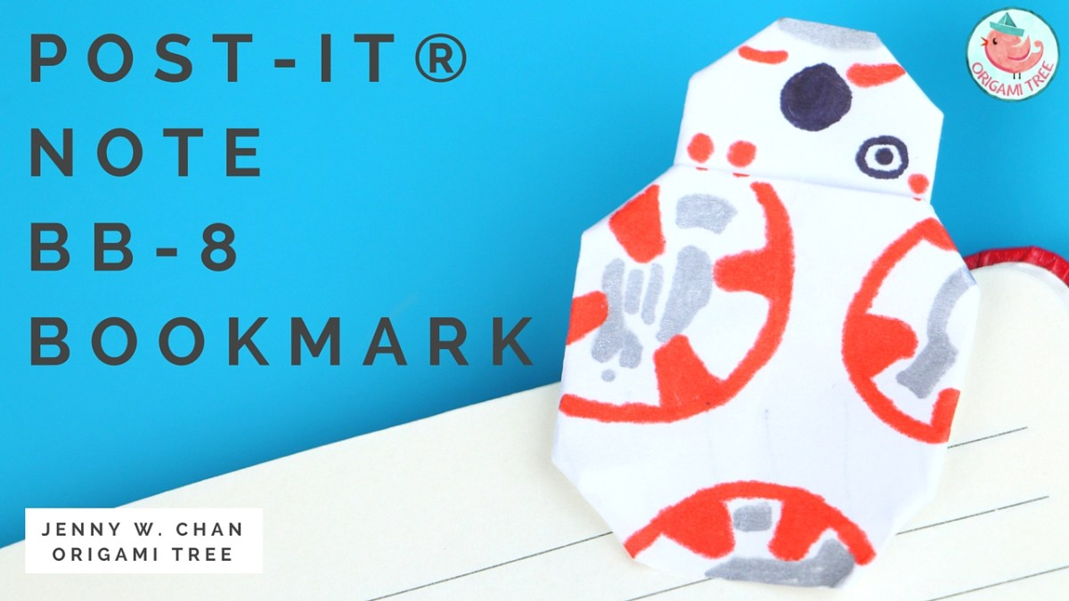 Star Wars Origami - BB-8 (Post-it® Notes)