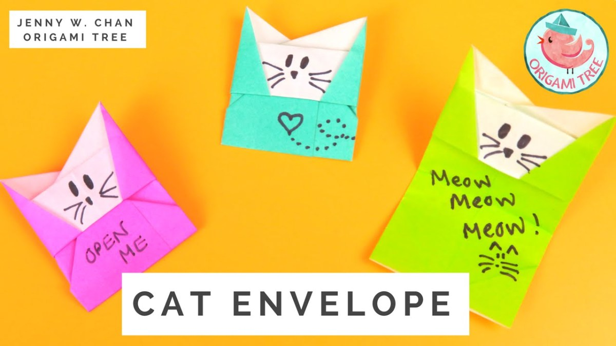 Origami Cat Envelope Tutorial