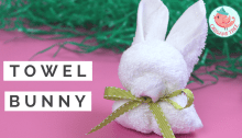 Bunny Towel Folding Tutorial, Jenny W. Chan, Origami Tree