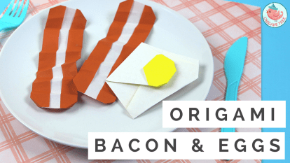 Origami Bacon and Eggs Tutorial, Jenny W. Chan, Origami Tree