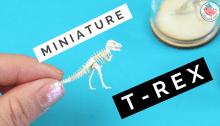 Miniature T-rex Tinysaurus | Jenny W. Chan, Origami Tree