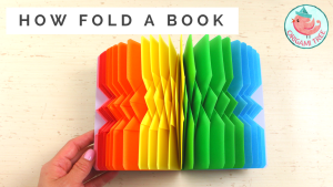how to fold book pages - rainbow autograph book