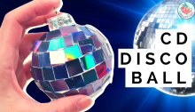 CD Disco Ball Tutorial - Jenny W. Chan Origami Tree