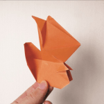 Origami Squirrel, Mary B. | TUTORIAL: http://wp.me/p5AUsW-G2