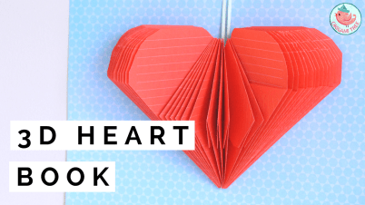 3d heart book folding tutorial | Jenny W. Chan Origami Tree