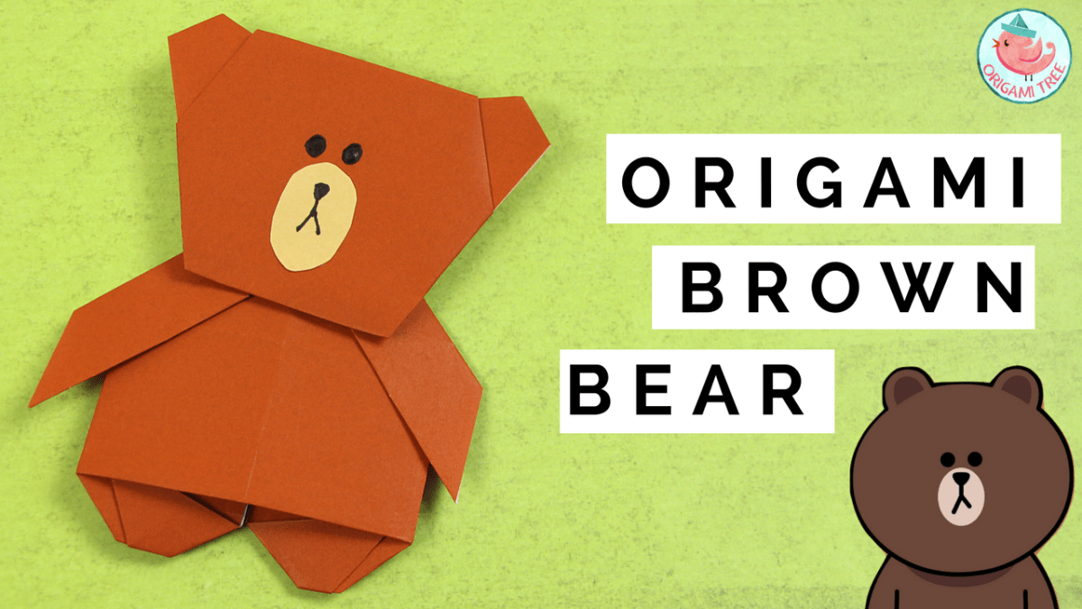 Origami Brown the Bear (Line App)
