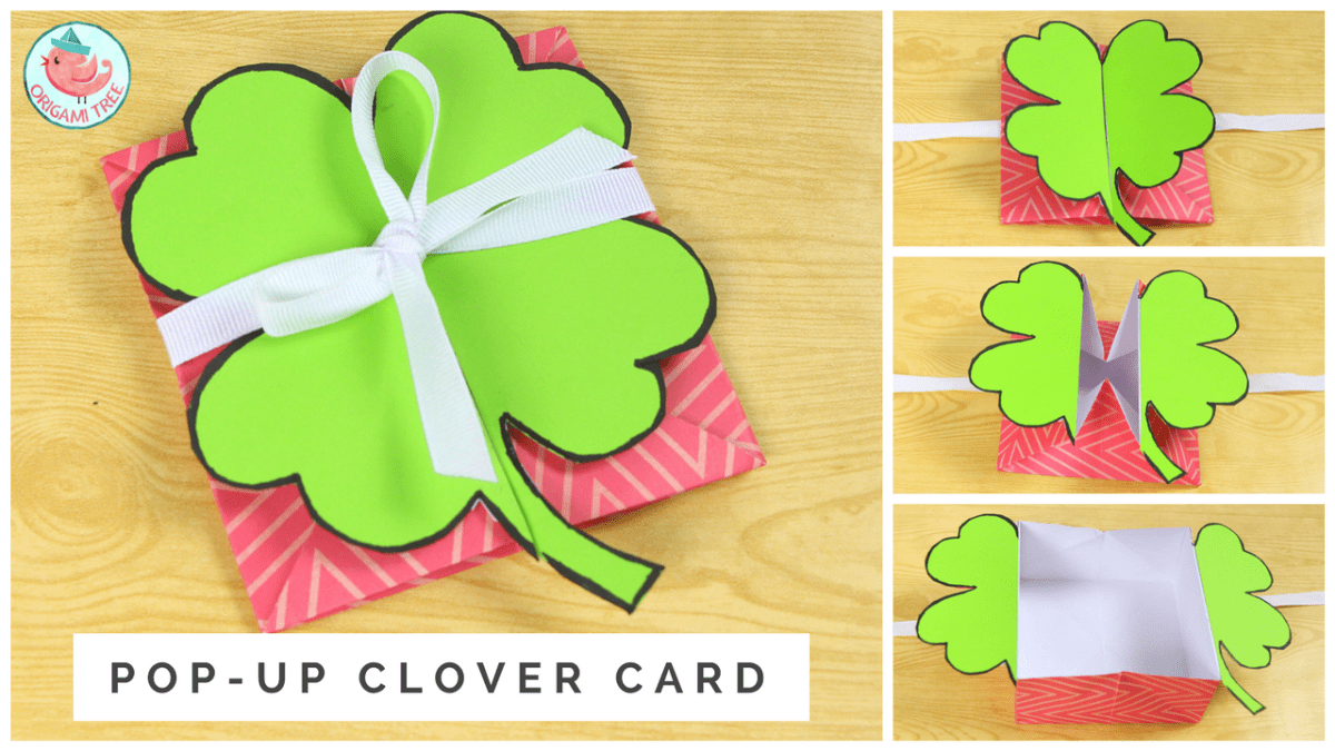 Pop Up Clover (Shamrock) Card