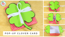 pop up clover card tutorial | Origami Tree Jenny W Chan