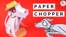 Paper Toy Dog Free Printable - Chopper Bobs and Tweets series by Scholastic