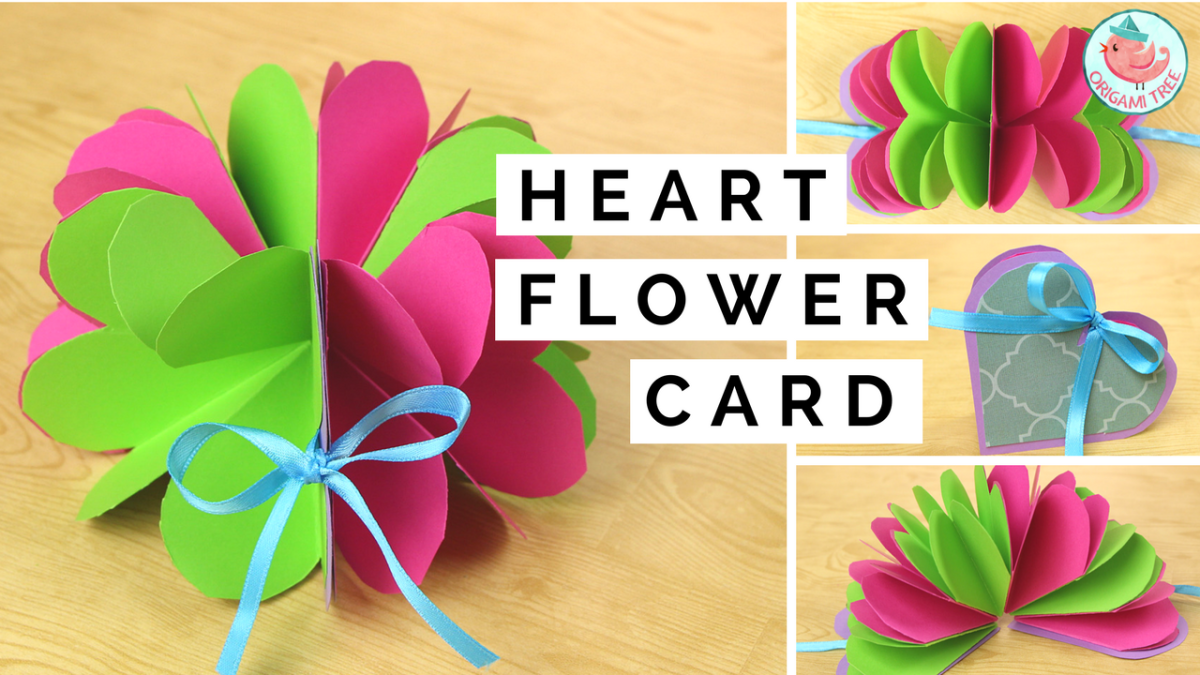 Pop Up Heart Flower Card | Origami Tree Jenny W. Chan
