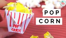 Origami Popcorn & Box Tutorial | Jenny W. Chan, Origami Tree