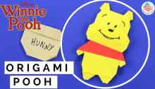 origami winnie the pooh | tutorial by Jenny W. Chan, Origami Tree