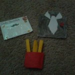 Lottery Ticket, Origami Shirt, Origami French Fries, Natasha T.