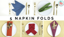 5 easy napkin folding techniques, Jenny W Chan, Origami Tree