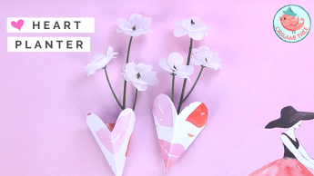 3D Heart Planter Tutorial - Jenny W. Chan Origami Tree