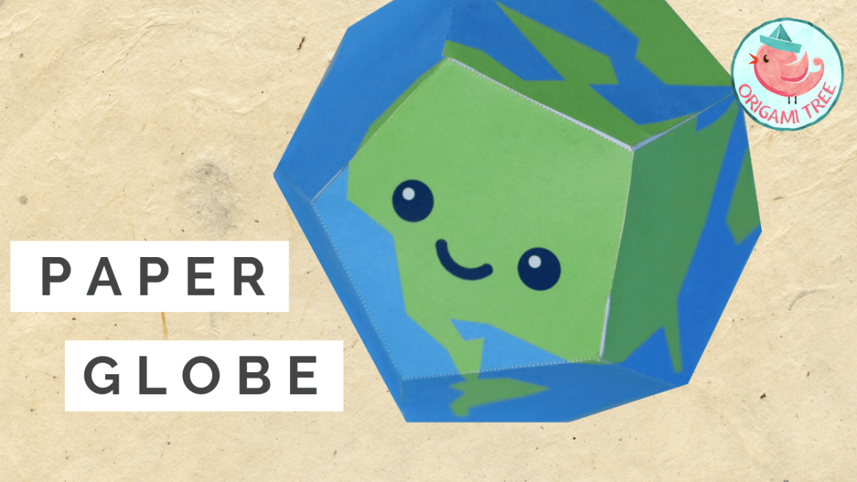 Paper Globe (FREE Printable Template)