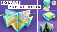 Square Pop Up Card Tutorial, Jenny W. Chan, Origami Tree
