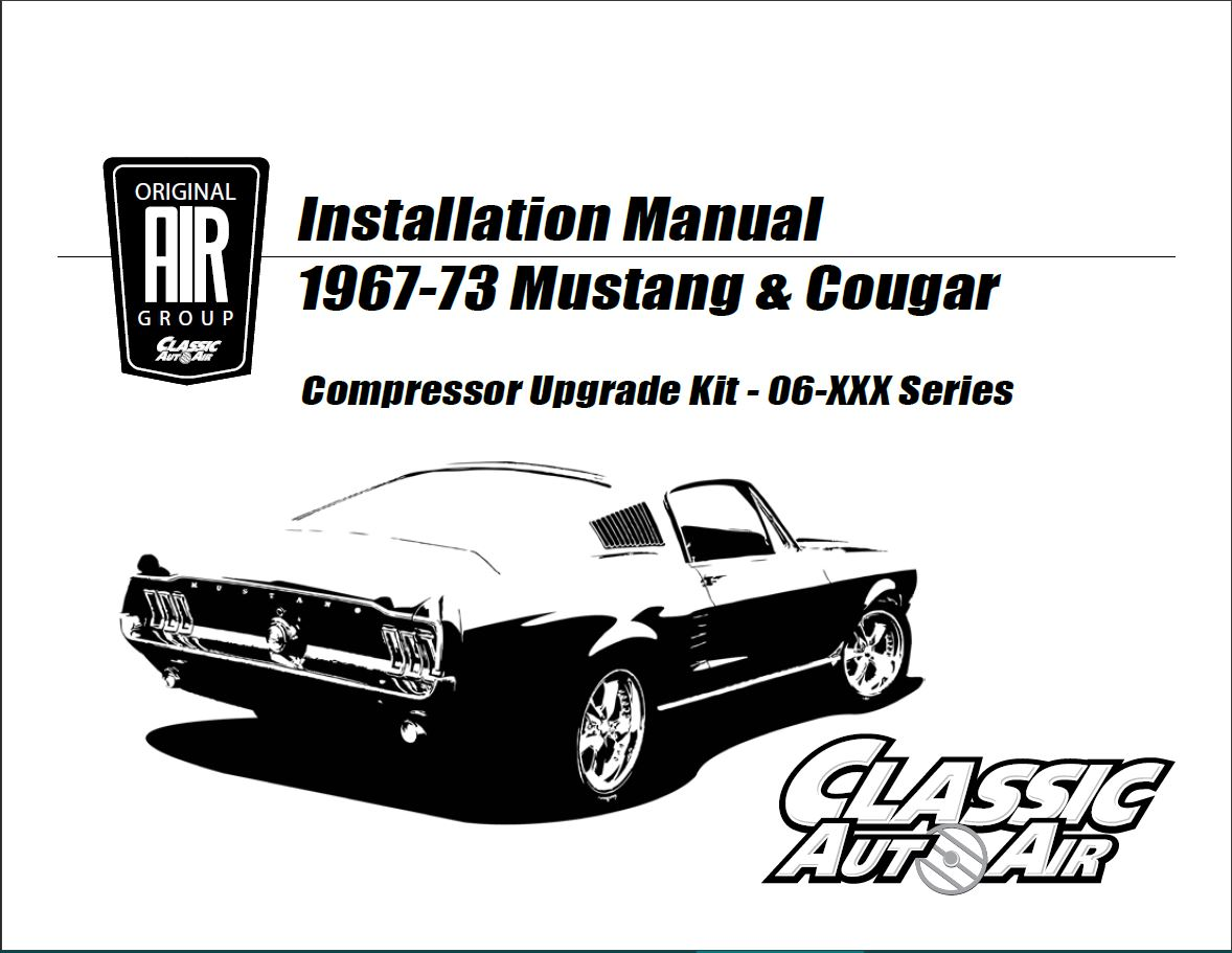 Early 67 Mustang Cougar A C Compressor Kit V8 Stage 1