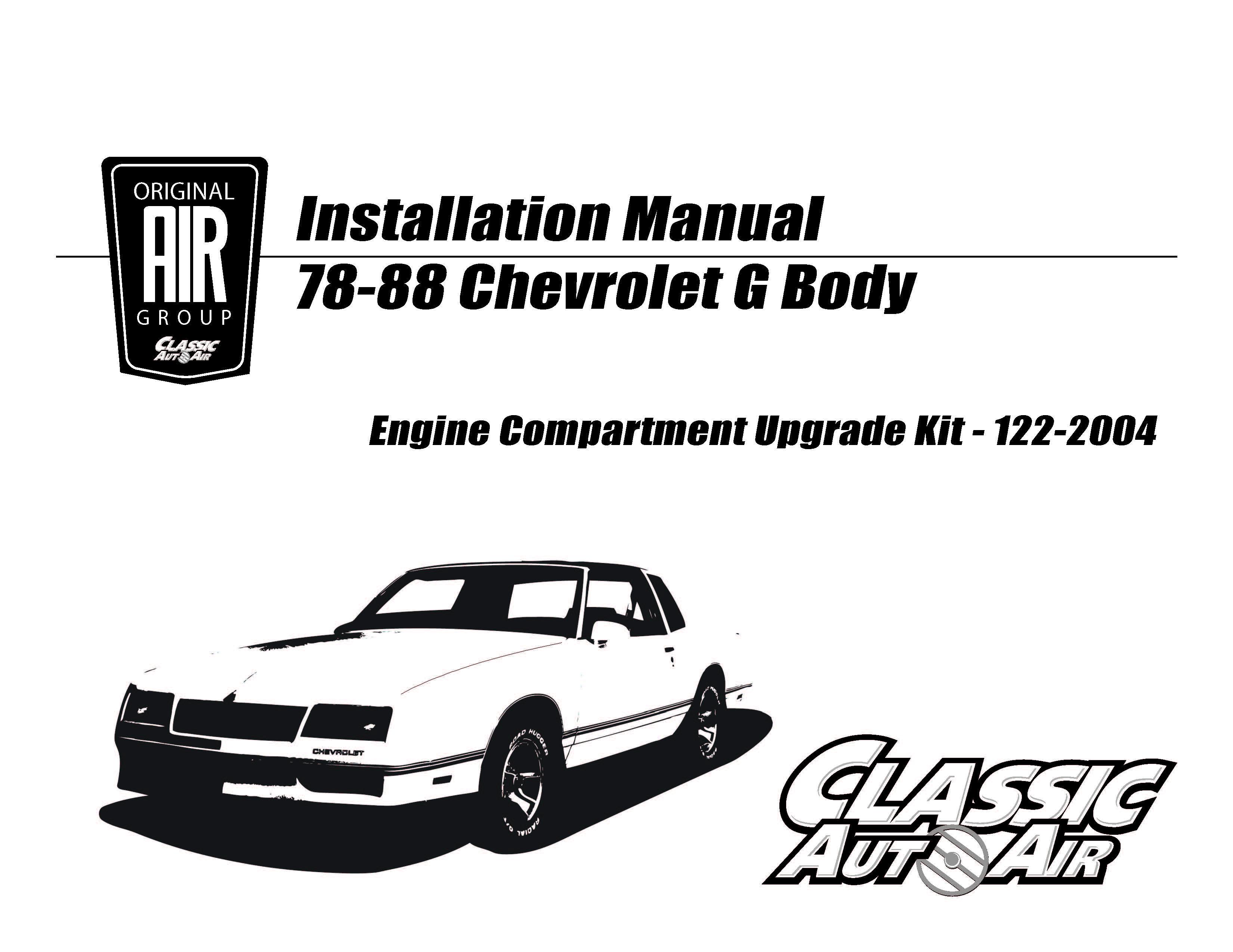 81 88 El Camino Monte Carlo A C Upgrade Kit V8 Stage 2