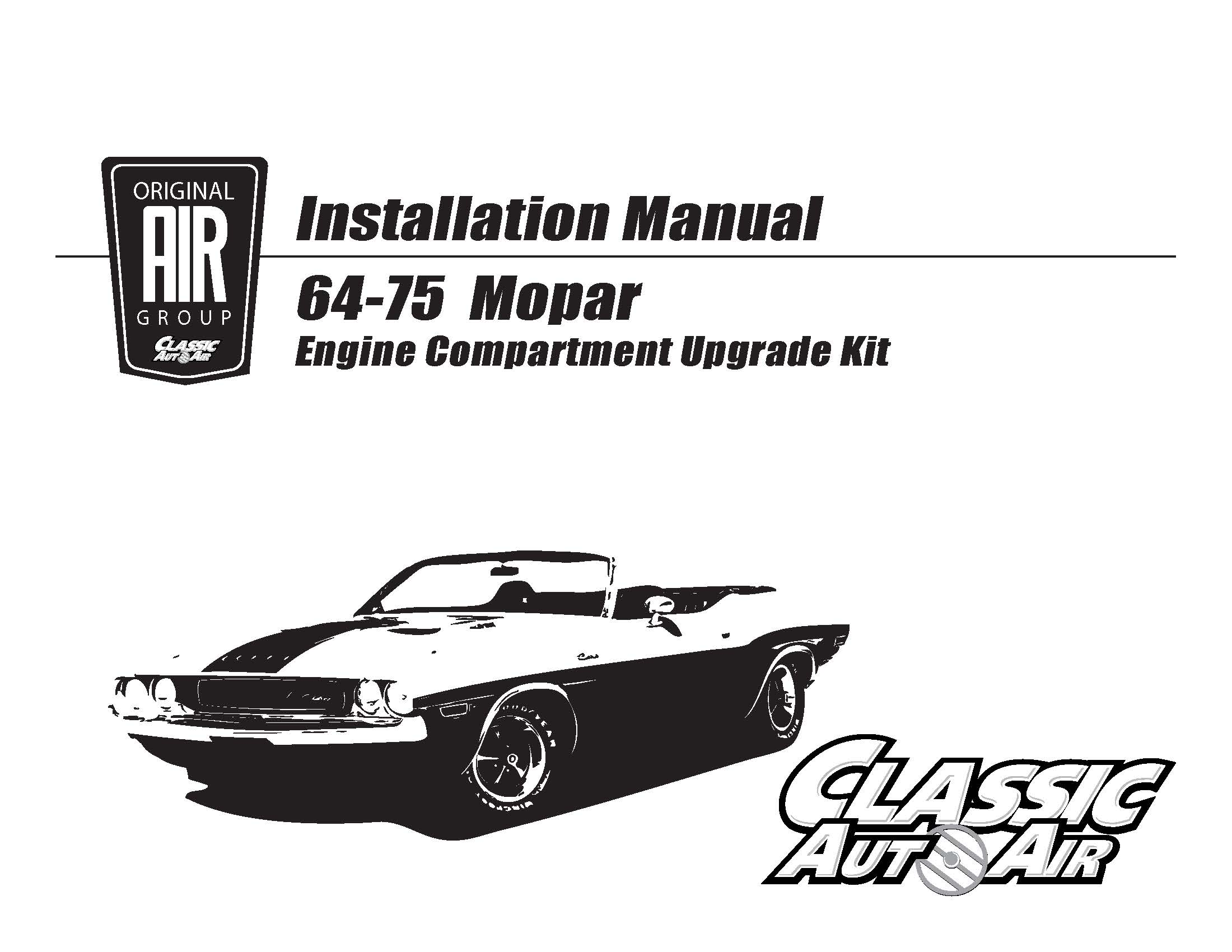 66 70 Charger Satellite Big Block A C Upgrade Kit Stage 1
