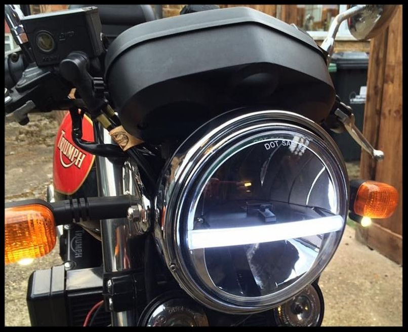 74 00 Headlight Headlamp Led Cree X 1 Light 7 Cafe Racer