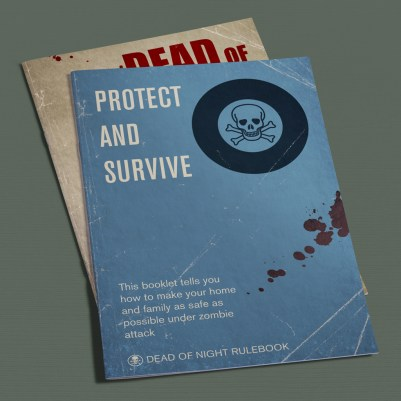A5 rules booklets in the style of a 50s civil defense manual
