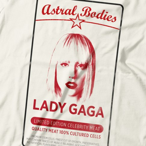 Lady Gaga - Antiviral T-shirt design (close-up)