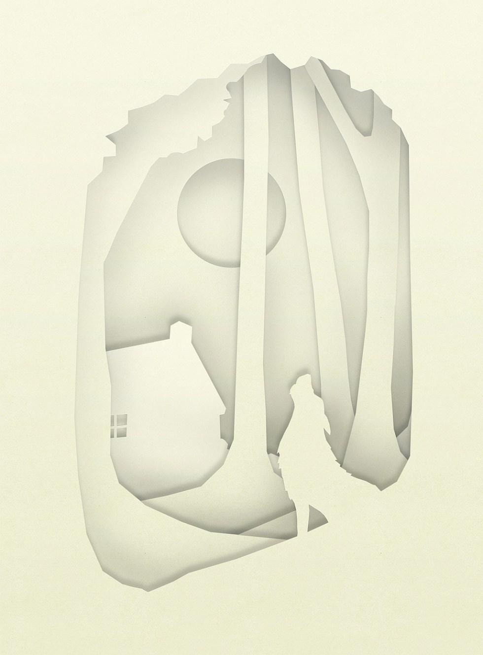 Wolfwood papercut card design